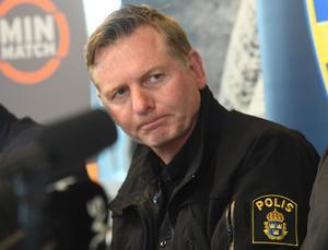 Fredrik Gårdare, kriminalkommissarie som leder aktionsgruppen mot kriminalitet inom idrotten.