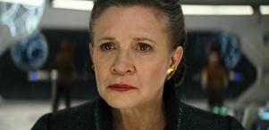 Carrie Fisher gör sin sista roll som Leia i kommande