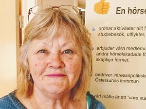 Inger Jansson valdes till ny ordförande i HRF-distriktet. Foto: Lars Fahlgren