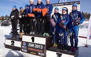 Domnarvets Ida Kihlén, Moa Molander-Kristiansen och Maja Dahlqvist tog brons i damstafetten.