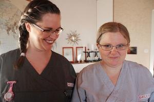 Jobbet blev roligare och mindre stressigt. Camilla Olsson och Maja Fogel har bara positiva omdömen om nya arbetssättet i hemtjänsten, Knoppen-modellen.
