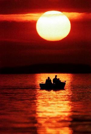 Ett modernt sätt att dra drag efter båt. Foto: Scanpix