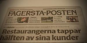 Förstasidan på Fagersta-Posten den 18 mars 2020.