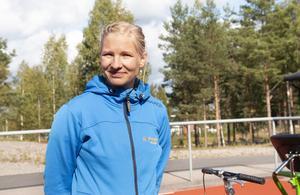 Elin Lund Jonsson var på plats för att hjälpa till vid racerunner cyklarna.
