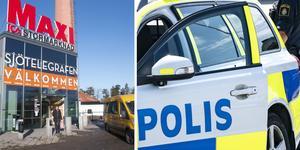 Händelsen utspelades vid Sjötelegrafens köpcentrum i Nynäshamn. Nu söker polisen efter den man som blev utsatt för brottet. Foto: Carina Albin/NP, TT