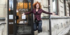 Kontorschefen på Fonus, Pia Alms senaste träningsfluga är jumping fitness.