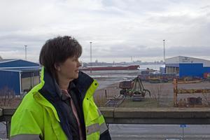 Carola Alzén, vd för Mälarhamnar, är missnöjd med Sjöfartsverkets förändring av slussöppning i Södertälje.