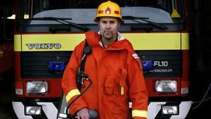 Håkan Andersson arbetade som brandman vid räddningstjänsten innan han gick i pension. Bild: Linus Wallin/arkiv