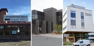 Länssjukhuset Ryhov, Värnamo sjukhus, Höglandssjukhuset. Arkivbilder.