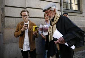 Foto: Fredrik Persson/TT Akademiledamoten Göran Malmqvist ville inte kommentera eftermiddagens möte närmare.