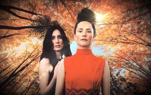 Matilda Bådagård och Maja Långbacka bildar tillsammans duon Långbacka/Bådagård. De skapar genreöverskridande pop. Pressbild.