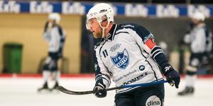 Jesper Nywertz blev Rättviks enda målskytt, men det hjälpte föga när man föll med 10–1.