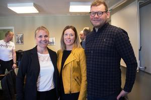 Företagens digitaliseringsresa är inledningsvis indelad i tre steg, berättar Lina Kronberg, Ann Olsson, båda från Ovanåkers kommun och Ola Wallberg från RISE AB.