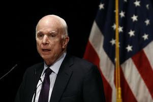 Den nyligen avlidne John McCain var Republikanernas presidentkandidat 2008 och gillade inte Donald Trump.