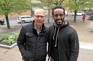 Börje Ström och Biniyam Asbu har lärt känna varann genom Kompisbyrån, där idén är att skapa kontakt mellan nya och etablerade svenskar med liknande intressen.