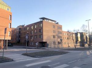 Så här ser hotellet ut sett från Färjemansleden idag. Illustration: Krook och Tjäder