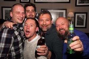 O'learys. Max, Tony, Erik, Simon, Rob och Lapham. Foto: Fabian Zeidlitz