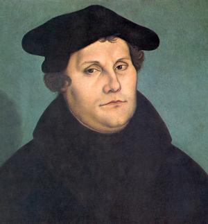 Martin Luther 1529. Målning av Lucas Cranach den äldre.