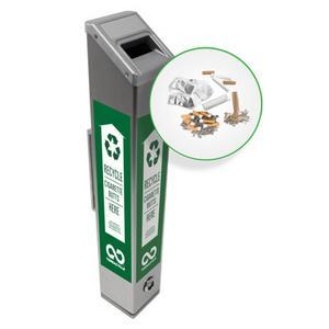 Sådana här återvinningsbehållare för fimpar finns uppställda på olika platser i USA, Kanada och Storbritannien.