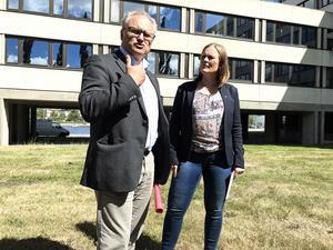 De socialdemokratiska regionrådskandidaterna Glenn Nordlund (S) och Sara Nylund (S).