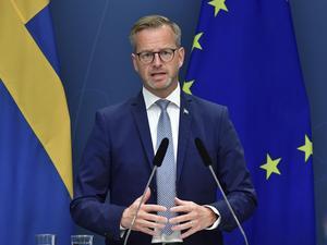 Mikael Damberg (S), inrikesminister, under en tidigare pressträff med anledning av nya stöd till kulturen och idrotten under Covid-19.
