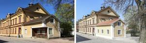 Hörnet har murats igen. Foto: Svensk Fastighetsförmedling Arboga
