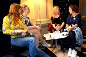 Camilla Sjödin, Ann Torstensson, Malin Löfgren och Elisabeth Fröling har smakat den första minirätten i Sundsvalls första Eat up.