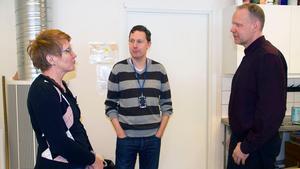 Tanja Svennberg, Mattias Stahre och Kjell Lundmark är några av de lärare på Brinellskolan i Fagersta som hoppas att tågen ska gå bättre i framtiden.