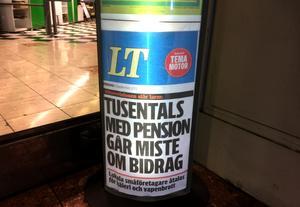 Bostadstillägget är en verklig klassiker på svenska tidningars löpsedlar – här LT.