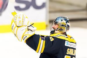Alexander Sahlin har sju raka matcher med en räddningsprocent för 90. Foto: Bildbyrån.