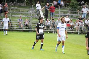 Diego Montiel under en match med VSK borta mot Akropolis i Svenska cupen 2014. FOTO: Arkiv