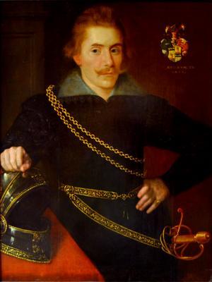 Jacob De la Gardie ledde den svenska förhandlingsdelegationen vid freden i Stolbova 1617. Målning från 1606 av okänd konstnär.