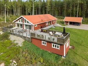 Denna villa på Sunnanö i Borlänge kommun var mest klickad på Hemnet under förra veckan, sett till de hus som var till salu i Dalarna. Foto: Svensk Fastighetsförmedling