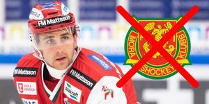 Foto: Daniel Eriksson / Bildbyrån. David Goodwin under ishockeymatchen i Hockeyallsvenskan mellan Mora och Karlskrona den 22 september 2019 i Mora.