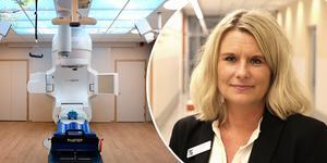 Gävle sjukhus tar emot cancerpatienter från Stockholm, något som gläder verksamhetschefen Johanna Ågren.