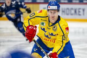 Viktor Lööv i Tre Kronor. Foto: Bildbyrån.