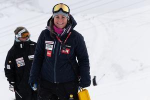 Hon är främst ansvarig för storslalomherrarna. Men också de som kör enbart slalom, det som brukar kallas teknikgrenarna. Foto. Klas Rockberg.