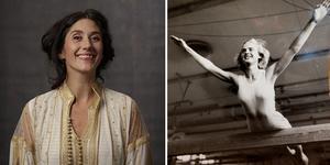 Maria Grudemo El Hayek är regissör och konstnärlig ledare för teaterdelen av projektet som bygger på kvinnliga idrottares egna berättelser, exempelvis gymnasten Karin Lindéns. Pressbild / privat bild (bilden är ett montage)