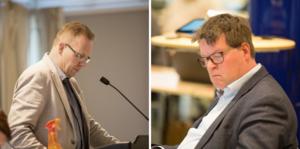 Kommunalråden Håge Persson (M) och Leif Pettersson (S) stödjer försäljningen av fastigheterna i Ludvika.