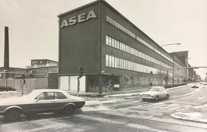 Korsningen Stora gatan/Östra Ringvägen 1977.