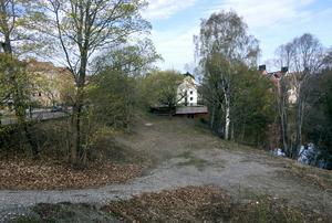 Området vid Selångersån där Svenska studenthus vill bygga 180 studentlägenheter.