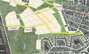 Planen för den nya stadsdelen Katrinehill sköts nyligen upp till hösten. Bild: Sundsvalls kommun