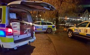 En man blev skjuten i centrala Falun under torsdagskvällen.