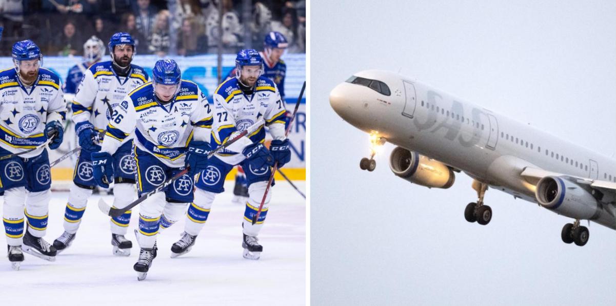 Leksands flyg till Göteborg försenat – matchstarten uppskjuten