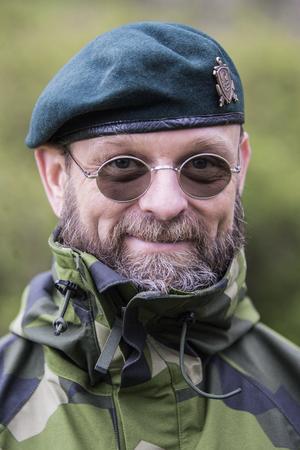 Hemvärnets kommunikationsbefäl Harald Hynell.