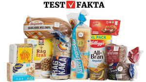 De elva testade frukostprodukterna.