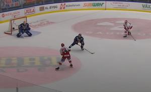 Ludvig Rensfeldt och Johannes Salmonsson kom två mot en. Bild: Skärmdump (CMore)