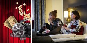 Hotellrummen på Lundsbrunns resort & Spa förvandlas under Göteborgs filmfestival till en biosalong för två. Foto: Pressbild
