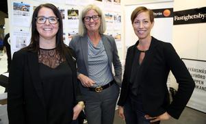 En glad trio från Fastighetsbyrån. Sofia Olofsson, Annacarin Holmgren och Sara Jeanson.