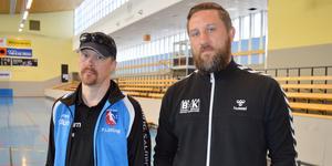 Peter Löfling, IBF Borlänge, och Erik Axelsson, BHK, menar att det är obegripligt att inte kommunen satsar på fler fullstora hallar för inomhusidrotten.